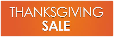 sale for thanksgiving and black friday