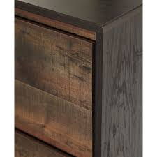 Contemporary Rustic Bedroom Furniture Modern Rustic Two Tone Five Drawer Chest By Signature Design By
