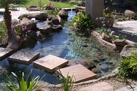Waterfall In Backyard Waterfall Water Features Pond Builder Phoenix Landscaping