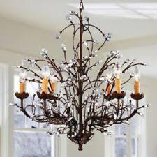 rustic iron chandelier ebay