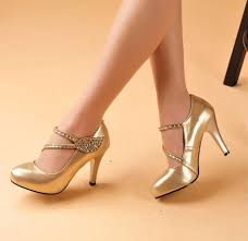 gold shoes for wedding 6 8 cm high the new single shoe leather leaves cingulate