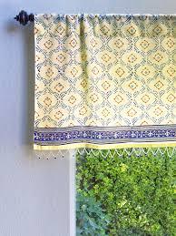Blue Valances Window Treatments Decorative Designer Elegant Sheer Fabric Beaded Window Valance