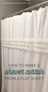 How To Sew A Curtain Best 25 Flat Sheet Curtains Ideas On Pinterest Sheets To