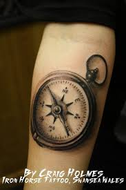 compass tattoo by craigholmestattoo on deviantart
