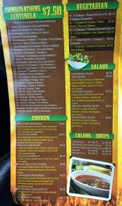 centinela mexican restaurant menu
