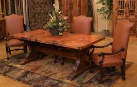 hammered copper dining table hand hammered copper dining table with trestle base home