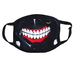 amazon com face mask teeth black unisex anti dust proof sand