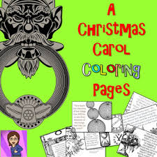 christmas carol coloring pages mini posters crazy english