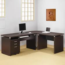 Home Office Desk Contemporary by U Shaped Desk And Long White Stained Wooden Home Office Table With