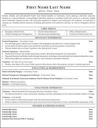 exle of an resume dentist resume sle template