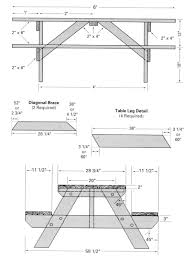 Free Plans For Picnic Table Bench Combo by Free Blueprints For Picnic Tables Free Picnic Table Woodworking