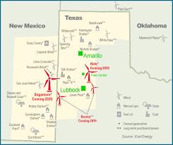 Amarillo Texas Map Xcel Announces 1 6 Billion Investment In Wind Energy Amarillo Com