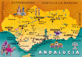 Spain Map Cities by World Come To My Home 0988 Spain Andalusia The Map Of Andalusia