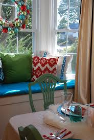decorations in teal and mint green