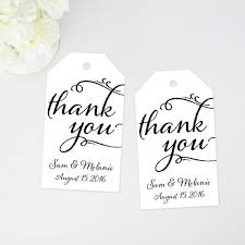 thank you tags thank you favor tag large size 36 pieces