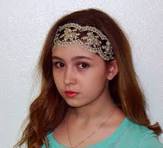 women s headbands boho vintage lace headband with bling womens sheer accent