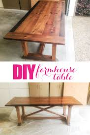 Making A Dining Room Table by Top 25 Best Diy Farmhouse Table Ideas On Pinterest Farmhouse