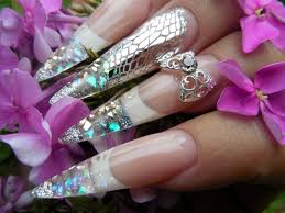 fierce and fabulous stiletto nails