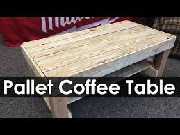 pallet coffee table project ideas youtube