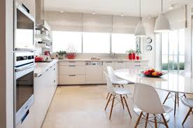 mid century modern kitchen design with natural sunlight ideas and