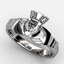 claddagh wedding ring sets engagement ring asu 1