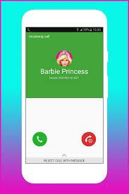 fake call princess barbie 1mobile