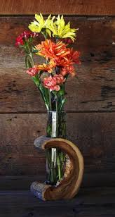 wood log vases rustic hollow log vase wood home décor accent by therusticnature