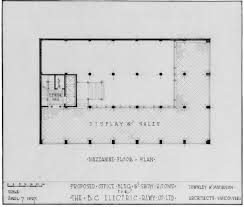 draw office floor plan proposed office bldg u0026 show rooms for the b c electric rlwy co