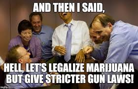 Are You Crazy Meme - smoke weed sure own a gun are you crazy imgflip