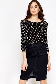 black polka dot blouse lace insert polka dot blouse just 5