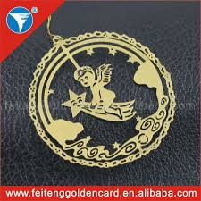 gold plated christmas ornaments wholesale hollow out christmas item gold plating angel