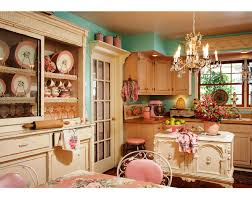 kitchen style country shabby chic kitchen turqoise painted