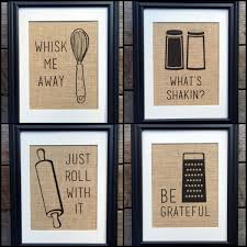 choose four funny kitchen burlap prints kitchen print rustic