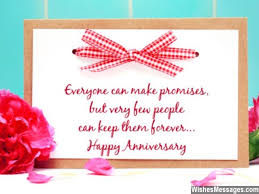 Anniversary Card Greetings Messages Everyone Can Make Promises But Very Few People Can Keep Them