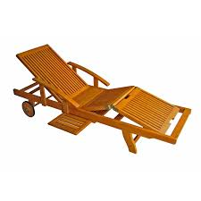 Wooden Outdoor Lounge Chairs Coral Coast Bellora Acacia Chaise Lounger With Pullout Table