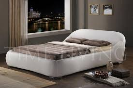time living manhattan luxury faux leather bed frame in white beds
