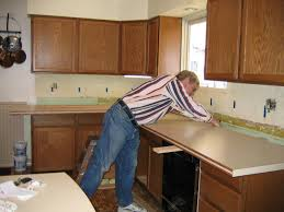 how to install a granite tile kitchen countertop diy reclaimed