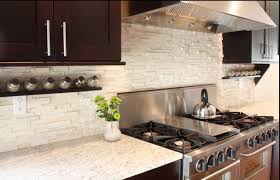 decor cream tile backsplashes for kitchens with walnut cabinet