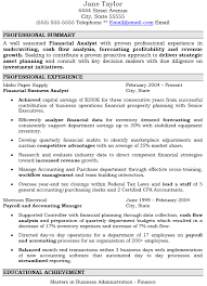 resume of financial analyst financial analyst resume sample finance resume examples 11