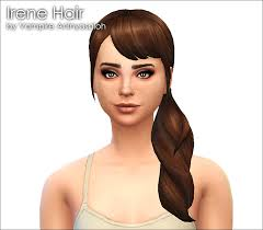 sims 4 hair cc mod the sims irene hair new mesh