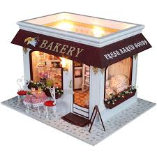 Sweet Coffee Shop France Style Diy Doll House 3d Miniature Diy Doll House Handmade Model Building Kits 3d Wooden Dollhouse