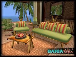 Aloha Furniture by Second Life Marketplace Tiki Tropical Beach Furniture Set