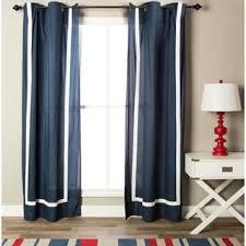 nautica ribbon trim cotton twill curtain panel set free shipping