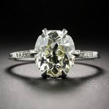 3 14 carat antique cushion cut diamond solitaire