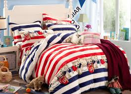 Nautical Twin Comforter Bedding Set Finest Red White Blue Nautical Bedding Rare Red
