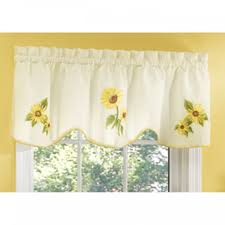 Sunflower Valance Curtains Sunflower Valance Kitchen Curtains Home Design And Decorating Ideas