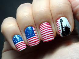 play full american flag style nail art trendy mods com