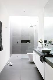 black white and grey bathroom home design ideas