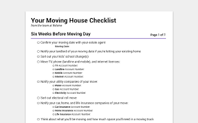 house checklist printable moving house checklist don t miss anything