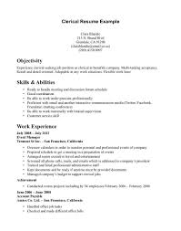 how to make a resume exle how to write resume for clericals template sle clerical assistant